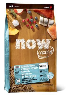 NOW Fresh корм для взрослых кошек всех пород, деликатное пищеварение, форель и лосось 7,26 кг