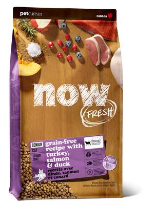 NOW Fresh корм для пожилых кошек всех пород, контроль веса, индейка, утка и овощи 1,82 кг