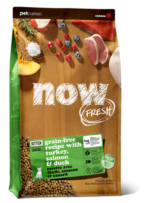 NOW Fresh корм для котят всех пород, беззерновой, индейка, утка и овощи 3,63 кг