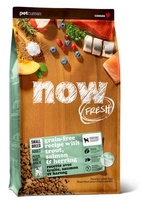 NOW Fresh корм для взрослых собак малых пород, беззерновой, форель, лосось и овощи 2,72 кг
