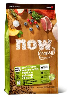 NOW Fresh корм для взрослых собак малых пород, беззерновой, индейка, утка и овощи 5,45 кг