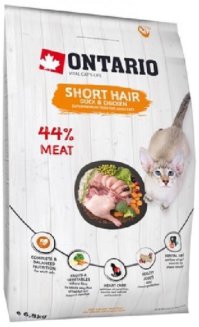 Ontario Для короткошерстных кошек с курицей и уткой (Ontario Cat Shorthair) 213-10333, 0,400 кг
