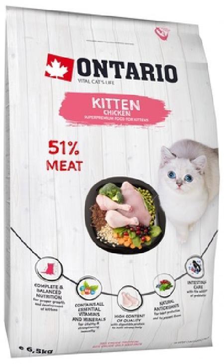 Ontario корм для котят, с курицей и индейкой 400 гр