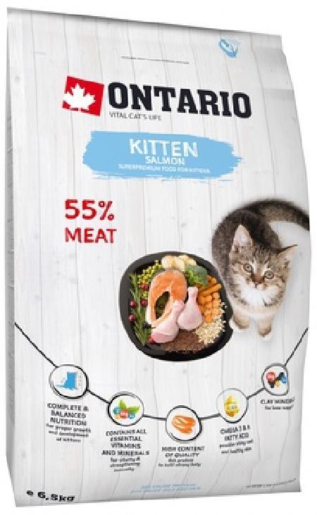 Ontario корм для котят, с лососем 6,5 кг