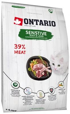 Ontario Для кошек с чувствительным пищеварением с уткой и ягненком (Ontario Cat Sensitive/Derma) 213-10627, 6,500 кг
