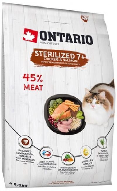 Ontario Для пожилых стерилизованных кошек с курицей (Ontario Cat Sterilised 7+) 213-10837, 6,500 кг