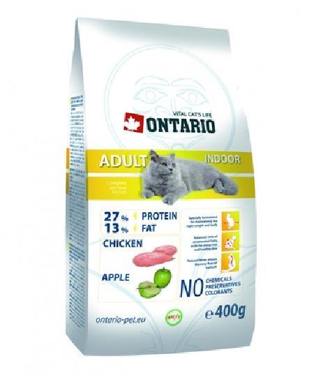 Ontario корм для кошек, живущих в помещении, с курицей 10 кг