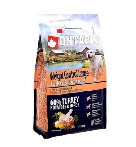Ontario корм для собак крупных пород, контроль веса, индейка и картофель 2,25 кг