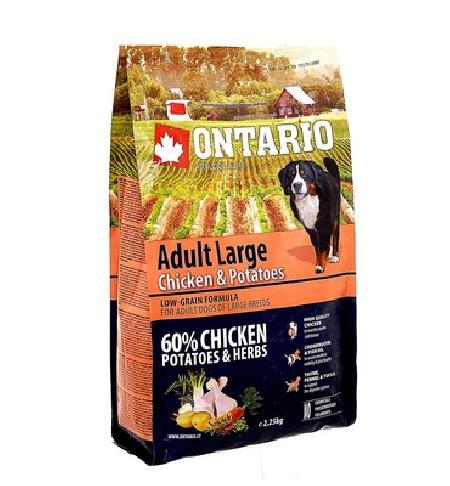 Ontario корм для собак крупных пород, курица 2,25 кг