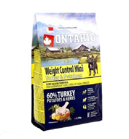 Ontario корм для собак мелких пород, контроль веса, индейка и картофель 2,25 кг