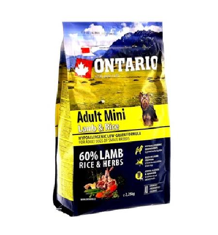Ontario корм для собак мелких пород, ягненок и рис 2,25 кг