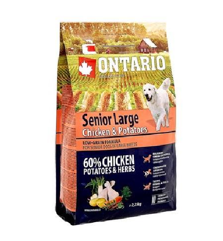 Ontario корм для пожилых собак крупных пород, курица и картофель 12 кг