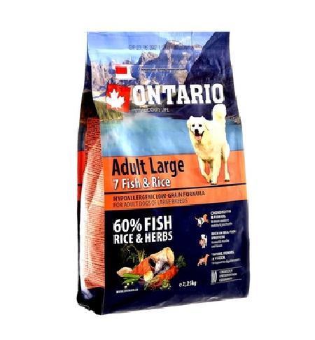 Ontario корм для собак крупных пород, лосось 12 кг