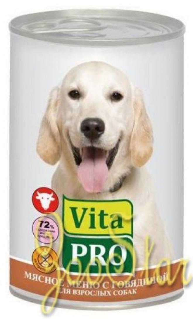 VitaPRO влажный корм для взрослых собак всех пород, говядина 400 гр