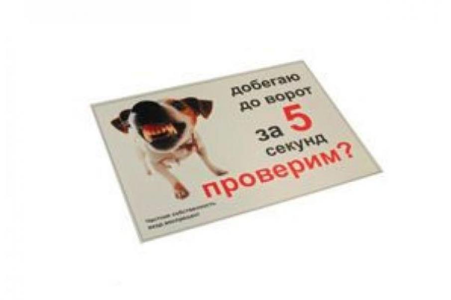 Табличка Добегаю да ворот за 5 секунд 2 вар формат А5, RP0026
