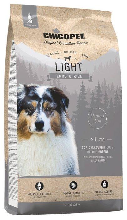 Chicopee корм для взрослых собак всех пород, контроль веса, ягненок и рис 2 кг