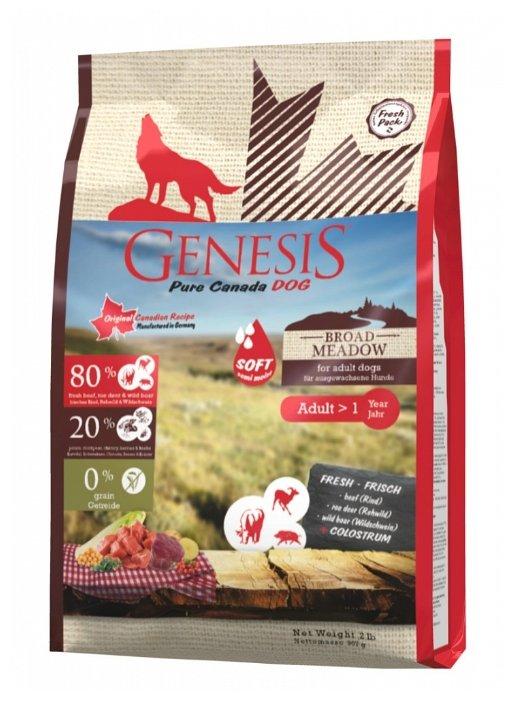 Genesis корм для взрослых собак всех пород, беззерновой, мясо косули и дикого кабана 907 гр