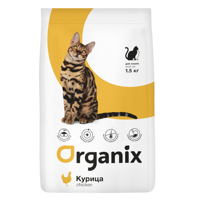 Organix сухой корм Для кошек с курицей (Adult Cat Chicken), 7,500 кг, 24639