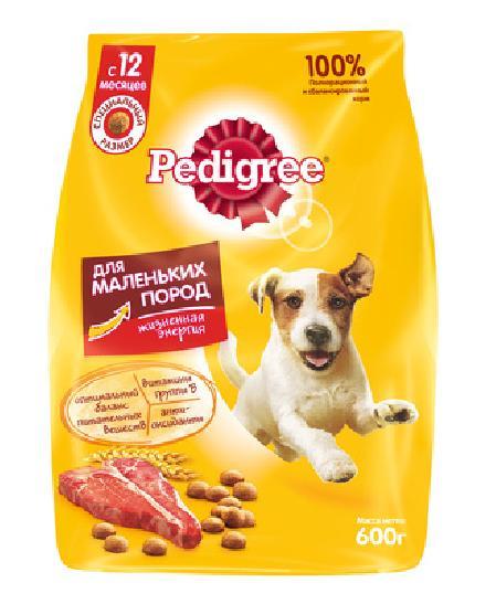 Pedigree корм для взрослых собак малых пород, говядина 2,2 кг