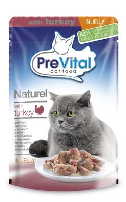 Превитал Натурель для кошек в желе с индейкой 85 гр. УПАКОВКА 28 шт.