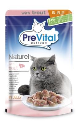 PreVital Паучи Натурель в желе с форелью, 0,085 кг, 34503