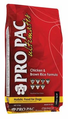 Pro Pac корм для взрослых собак всех пород, курица и коричневый рис 12 кг