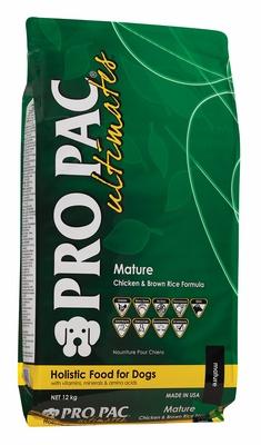 Pro Pac корм для пожилых собак всех пород, курица и коричневый рис 12 кг