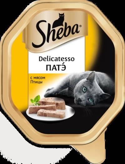 Sheba Delicatesso влажный корм для кошек всех пород, патэ с птицей 85 гр