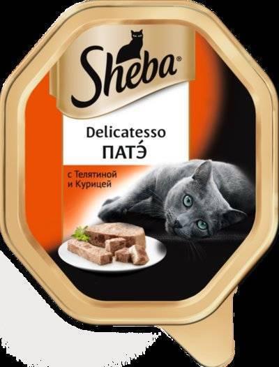 Sheba Delicatesso влажный корм для кошек всех пород, патэ с телятиной и курицей 85 гр