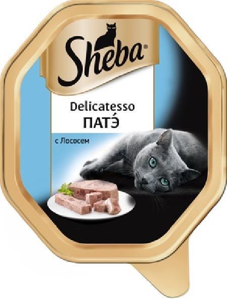 Sheba Delicatesso влажный корм для кошек всех пород, патэ с лососем 85 гр