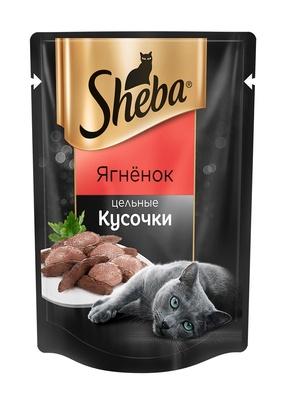 Sheba ВИА Паучи для кошек ягненок кусочки, 0,080 кг