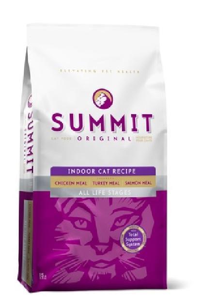 Summit Для котят и кошек три вида мяса с цыпленком, лососем и индейкой (Original 3 Meat, Indoor Cat Recipe CF), 6,800 кг, 20365