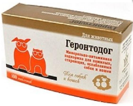 7 собак Геронтодог минерально-витаминная добавка для пожилых собак 100 таб