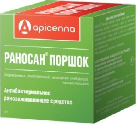 Apicenna Раносан порошок для животных, ранозаживляющий 5 гр