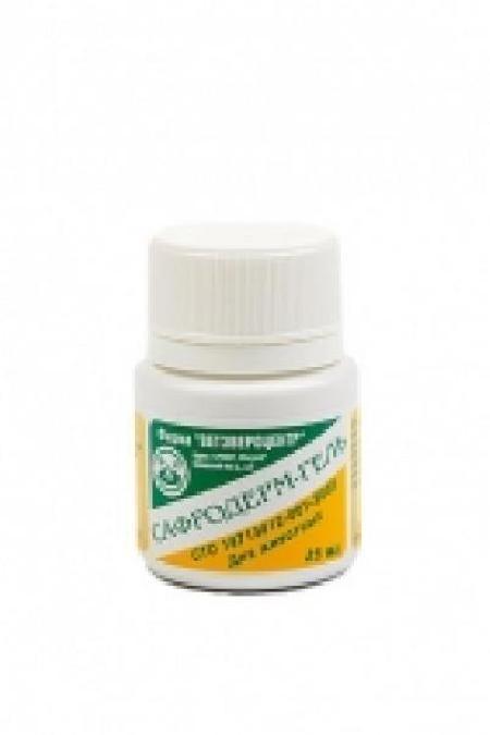 (t) Сафродерм-гель лечение экзем, ожогов, трофических язв и дерматитов неинфекционной этиологии 25мл, 12471
