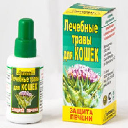 Настойка лечебных трав Защита печени дкошек
