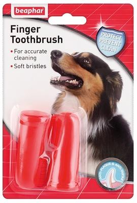 Beaphar Зубная щетка двойная  длясобак, на палец, 0,100 кг