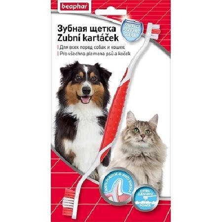 Beaphar Зубная щетка двойная для собак (блистер) 15315, 0,066 кг