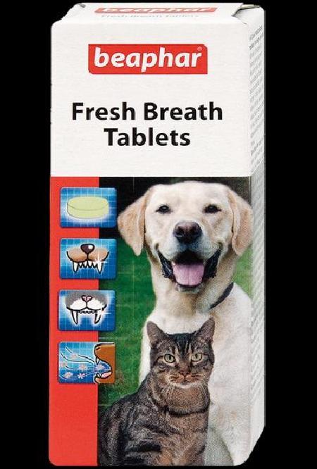 Beaphar Fresh Breath Tablets таблетки для кошек и собак, от запаха из пасти 40 таблеток