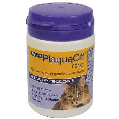 ProDen PlaqueOff средство для профилактики зубного камня у кошек 40 г