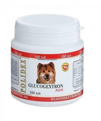Polidex Glucogextron витаминный комплекс для собак, восстановление хрящевой ткани 150 таб
