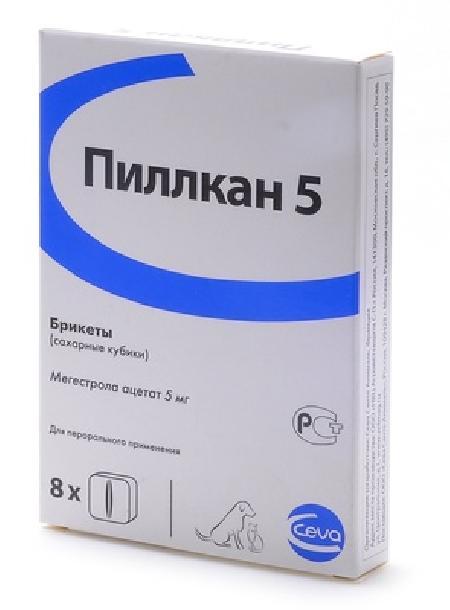 Ceva ВИА Пиллкан-5 Контрацептив для кошек, 8 сахарных кубиков-12658, 0,010 кг, 22613