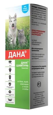 Apicenna Дана шампунь для кошек и собак от блох, клещей, вшей, 0,150 кг, 40722
