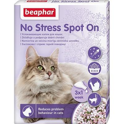 Беафар 13913 No Stress Spot On Капли дкошек успокаивающие 3пипетки*0,4мл