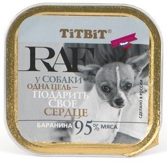 TiTBiT Паштет для собак RAF с бараниной (7686), 0,100 кг