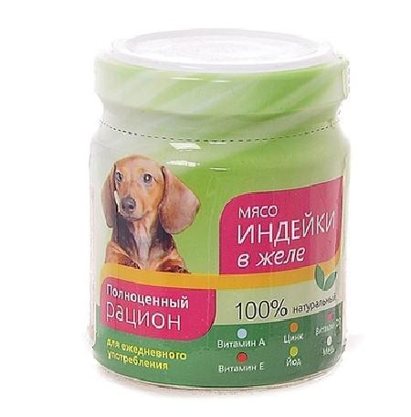 TiTBiT ВИА Консервы для собак мясо индейки в желе (004388) , 0,1 кг, 19588