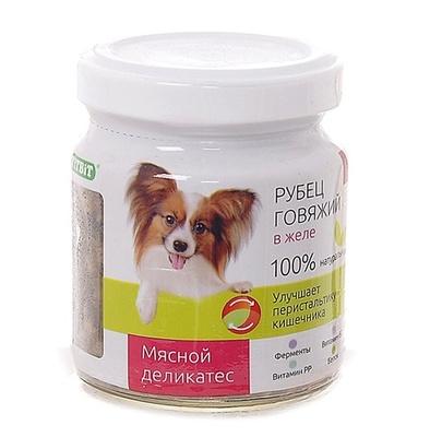 TiTBiT ВИА Консервы для собак Рубец говяжий в желе (003633) , 0,100 кг