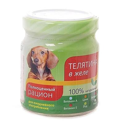 TiTBiT ВИА Консервы для собак телятина в желе (004364), 0,100 кг