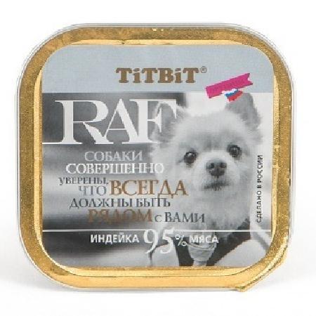 TiTBiT Паштет для собак RAF с индейкой (7679), 0,100 кг