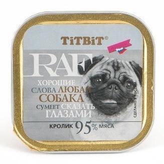 TiTBiT Паштет для собак RAF с кроликом (7662), 0,100 кг